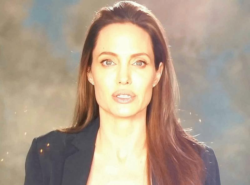 Angelina Jolie as seen in her newly-released video.