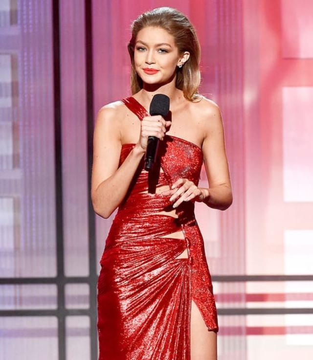 Gigi Hadid at this year's American Music Awards.