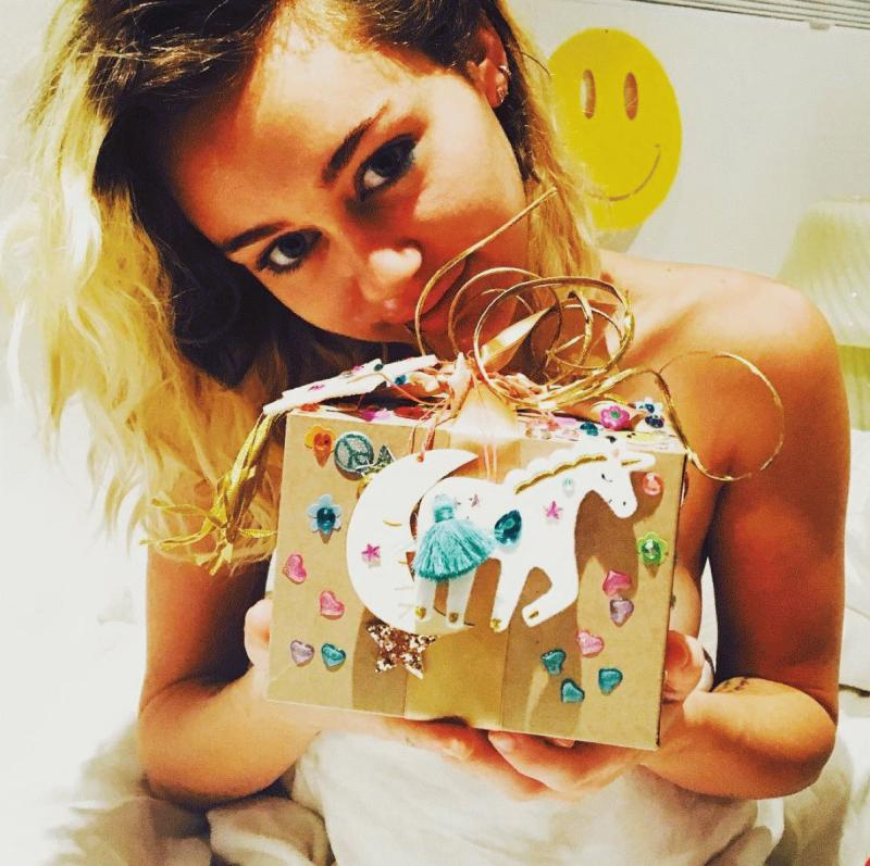 A photo of Miley Cyrus posted by Liam Hemsworth on Instagram as he greeted her for her birthday.