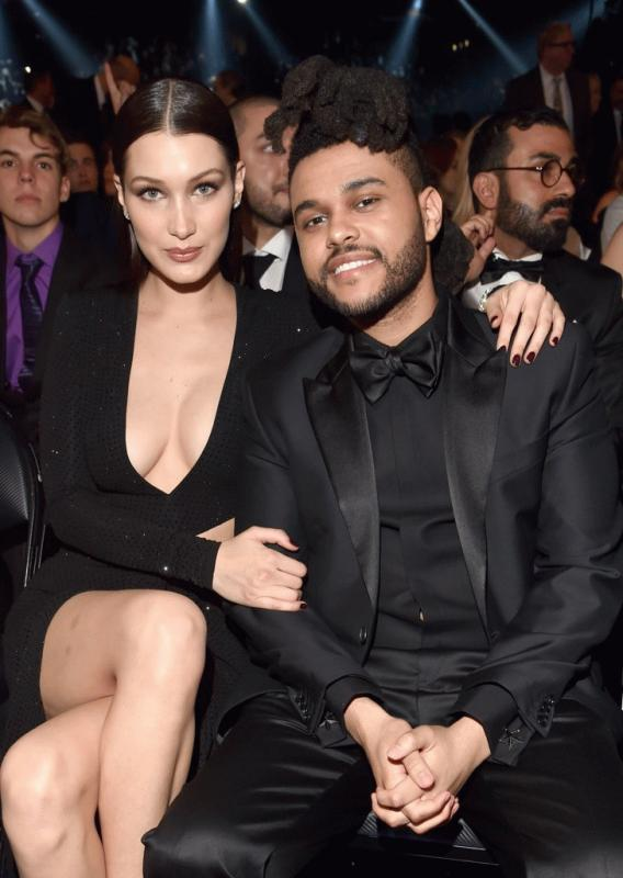The Weeknd and Bella Hadid in an undated photo.