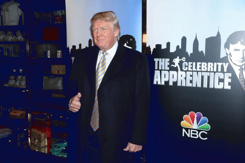 "President-elect Donald Trump in a promotional photo for ""Celebrity Apprentice"" in the past."