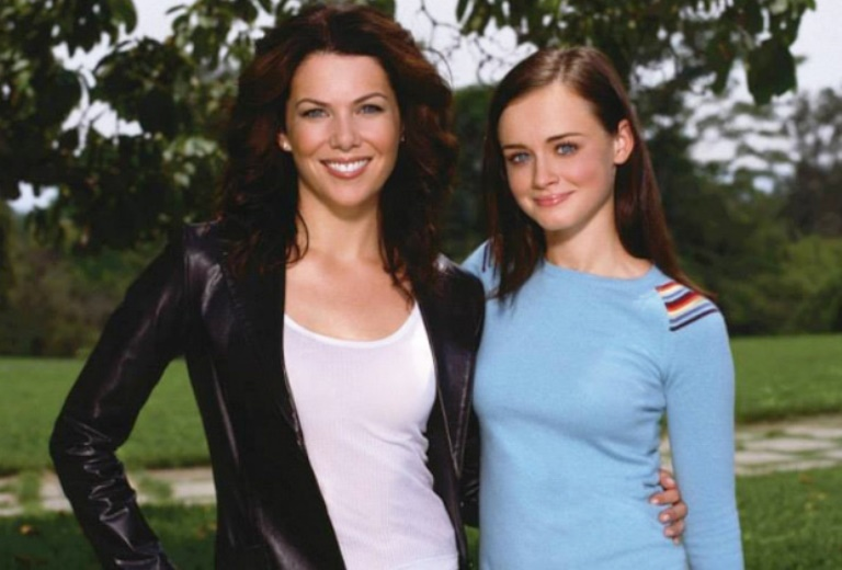 "The stars of ""Gilmore Girls"" in an undated promo photo for the Netflix revival of the series."