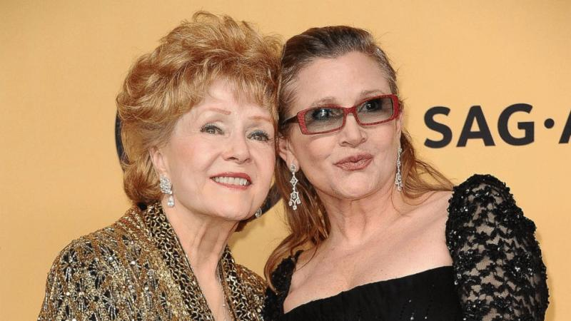 Carrie Fisher and her mother Debbie Reynolds in an undated photo.