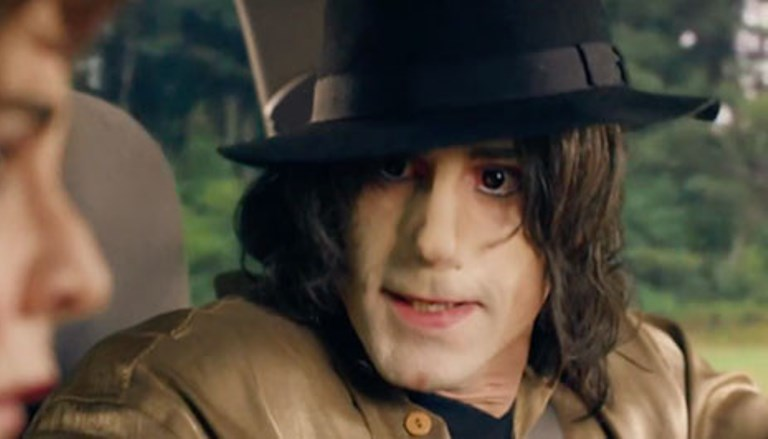 Michael Jackson portrayed as a white man in a British show.