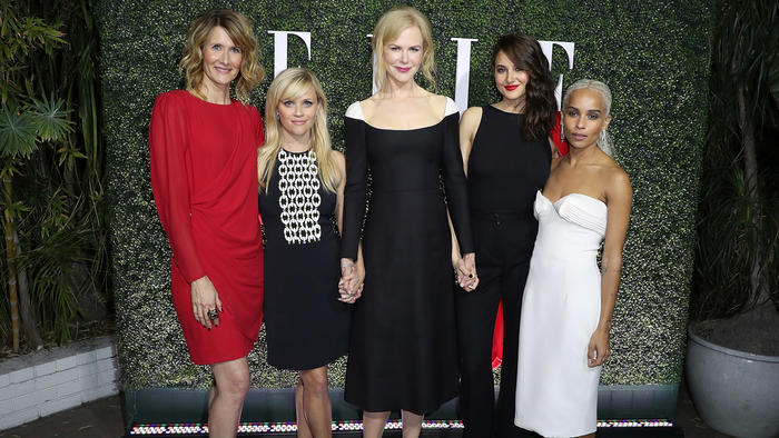 """A photo showing the women behind the new HBO limited series """"Big Little Lies."""""""