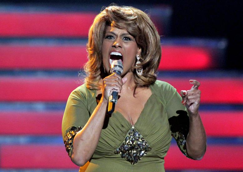 "FILE PHOTO - Singer Jennifer Holliday performs during the 11th season finale of ""American Idol"" in Los Angeles"