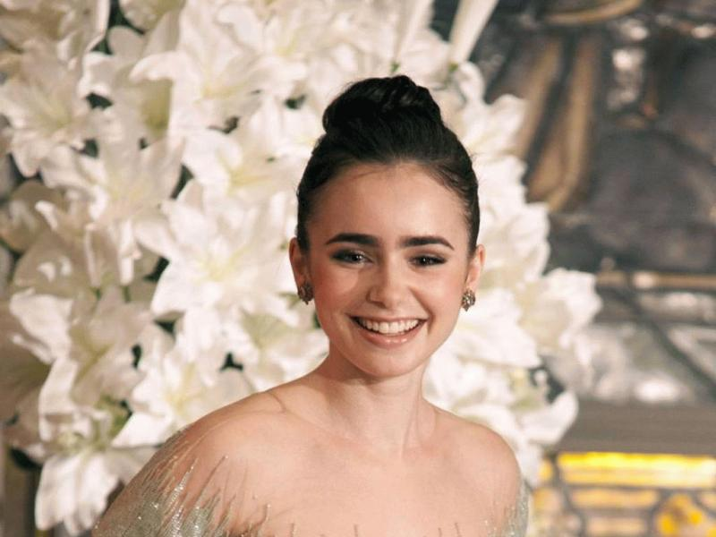 Lily Collins in an undated photo.