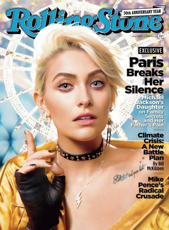 Paris Jackson graces the cover of Rolling Stone magazine's latest issue.