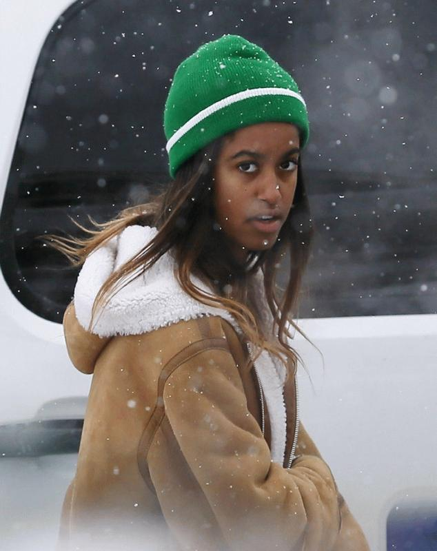 Malia Obama photographed in Park City, Utah after she attended the Sundance Film Festival.