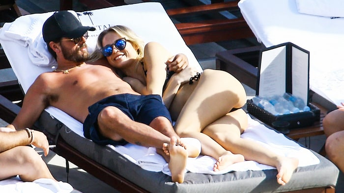 Scott Disick photographed with the second woman he was spotted with in Miami, Florida.