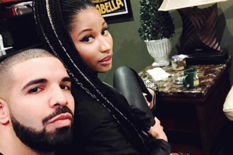 Nicki Minaj and Drake in a new photo posted on her Instagram account.