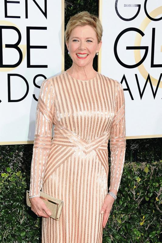 Annette Benning photographed during this year's Golden Globes.