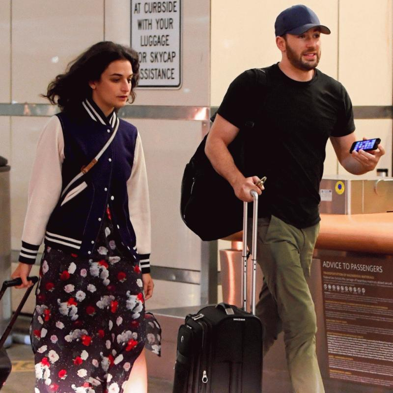 Chris Evans and Jenny Slate in an undated photo.