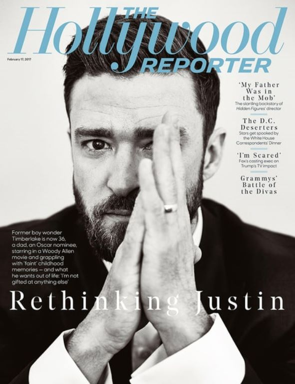 Justin Timberlake for the latest cover of The Hollywood Reporter.
