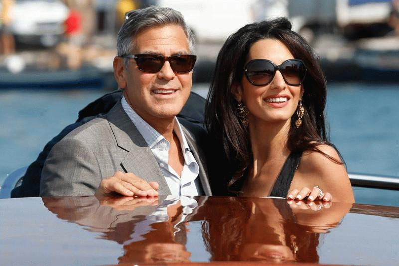 George and Amal Clooney in an undated photo.