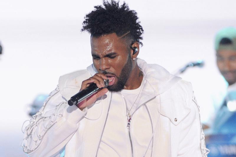 Jason Derulo photographed during a performance this year.