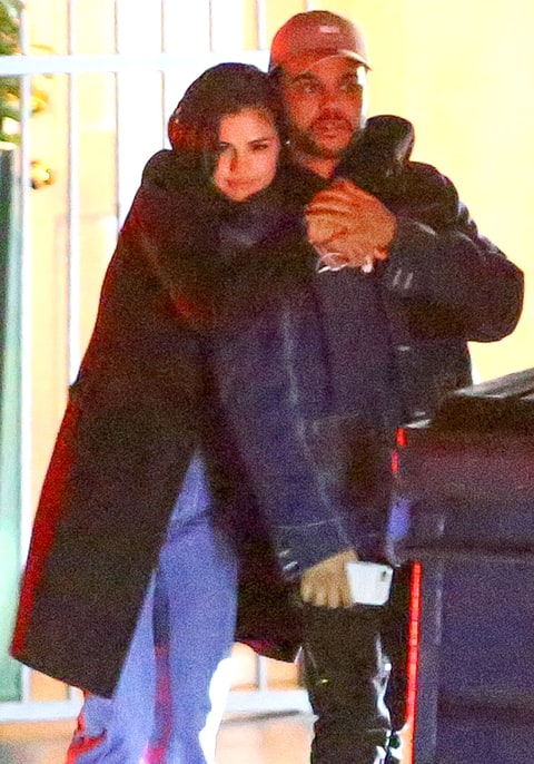 Selena Gomez and The Weeknd in a January 2017 photo in Los Angeles after their dinner date.