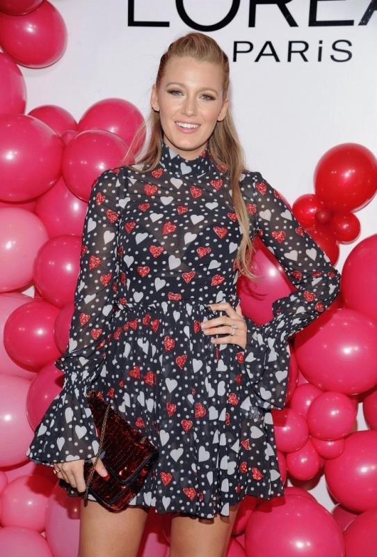 Blake Lively at the L'Oreal event this week.