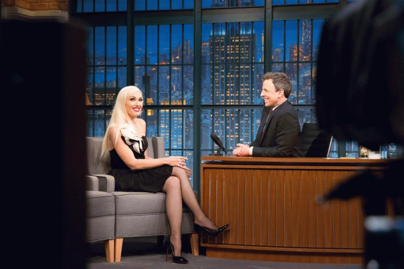 """Gwen Stefani at the """"Late Night Show With Seth Meyers."""""""