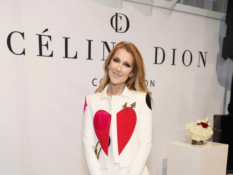 Celine Dion photographed at the launch of her lifestyle collection with the Bugatti Group.