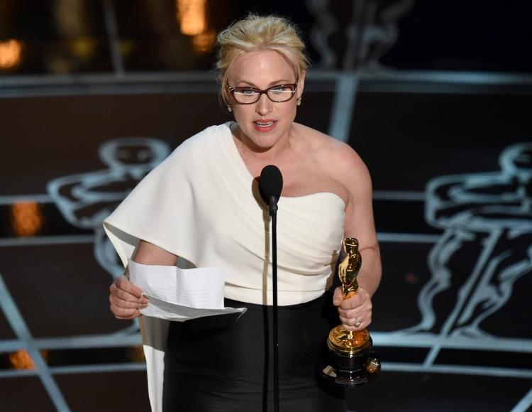 Patricia Arquette photographed at the 2015 Academy Awards.