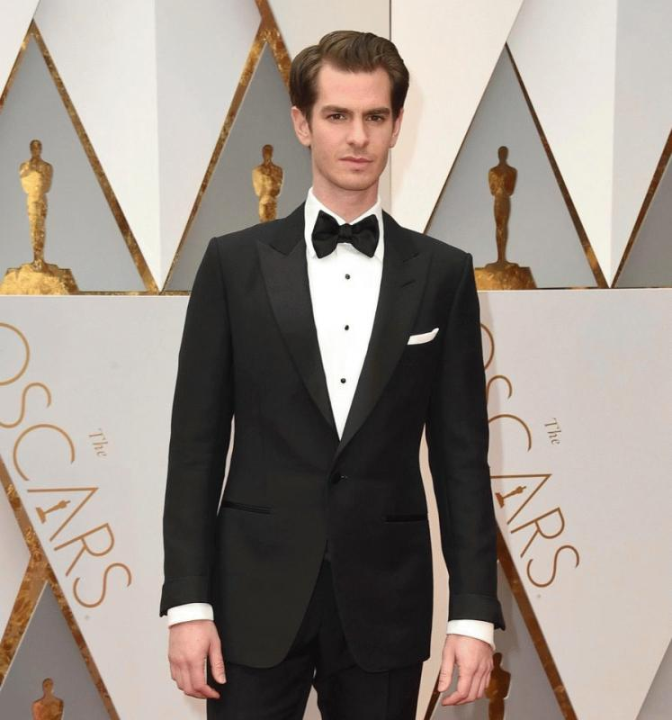 Andrew Garfield photographed at this year's Academy Awards.