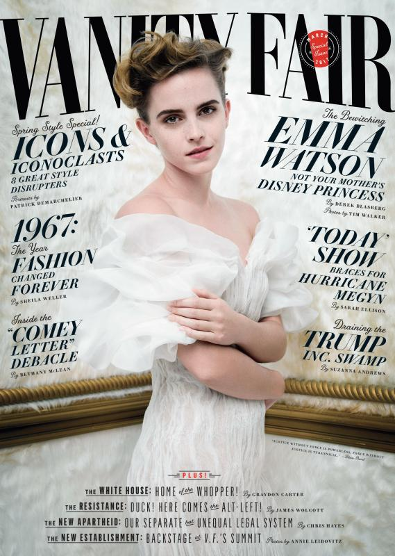 Emma Watson for the cover of the latest Vanity Fair issue.