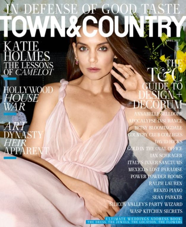 Katie Holmes for the cover of Town & Country magazine's latest issue.