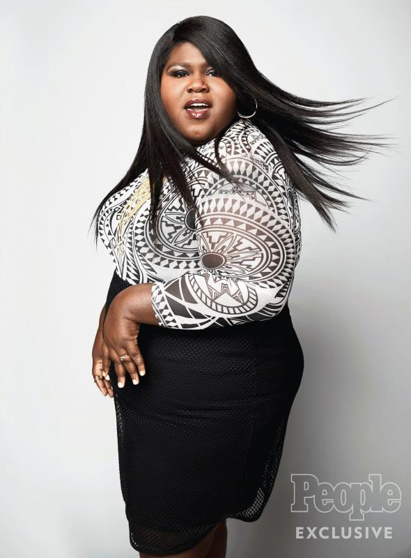 Gabourey Sidibe in a new photo showing her thinner frame.