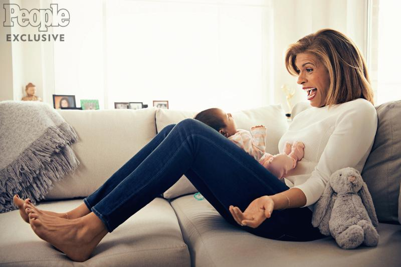 Hoda Kotb photographed with her daughter in an interview with People magazine.