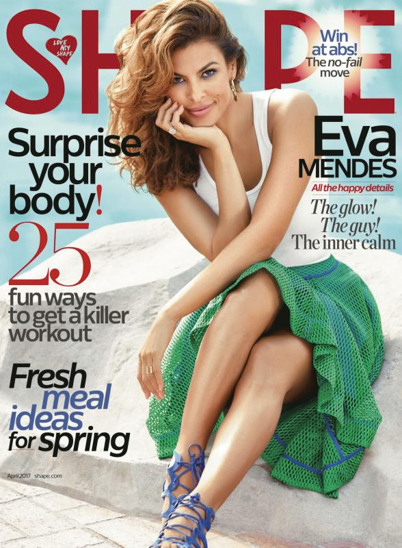 Eva Mendes for the April 2017 issue of SHAPE magazine.